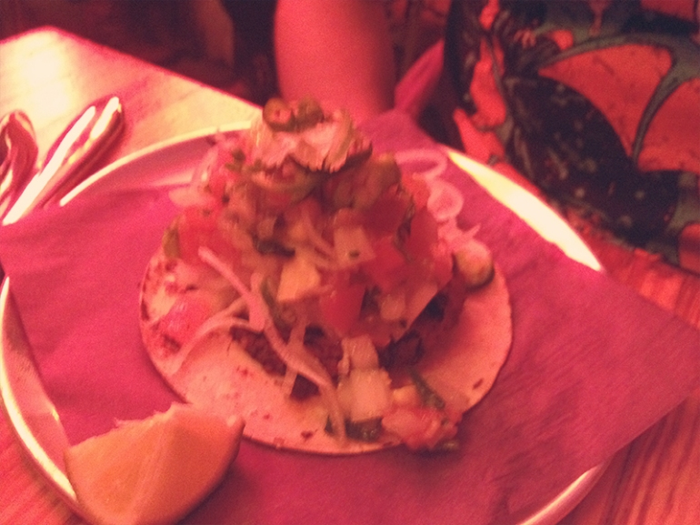Grilled Octopus Taco