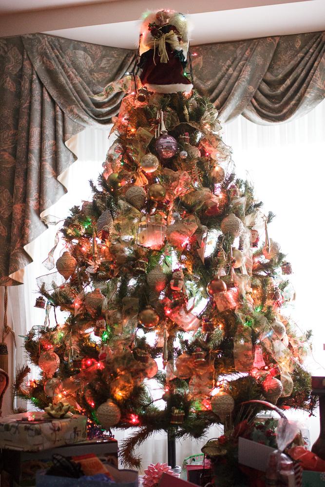 A very clausterphobic Christmas Tree