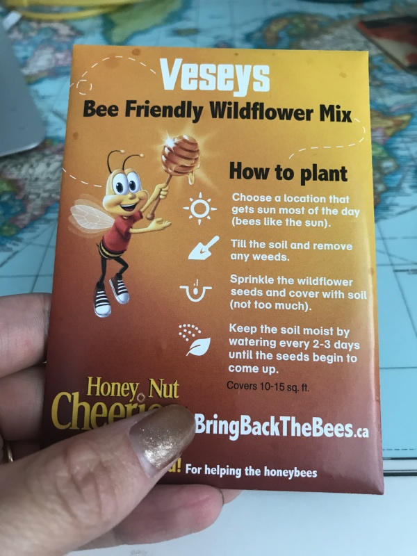 I Finally Received My Free Seeds From The Honey Nut Cheerios Bring Back Bees Campaign Premise Is To Get People Plant More Flowers In Hopes That