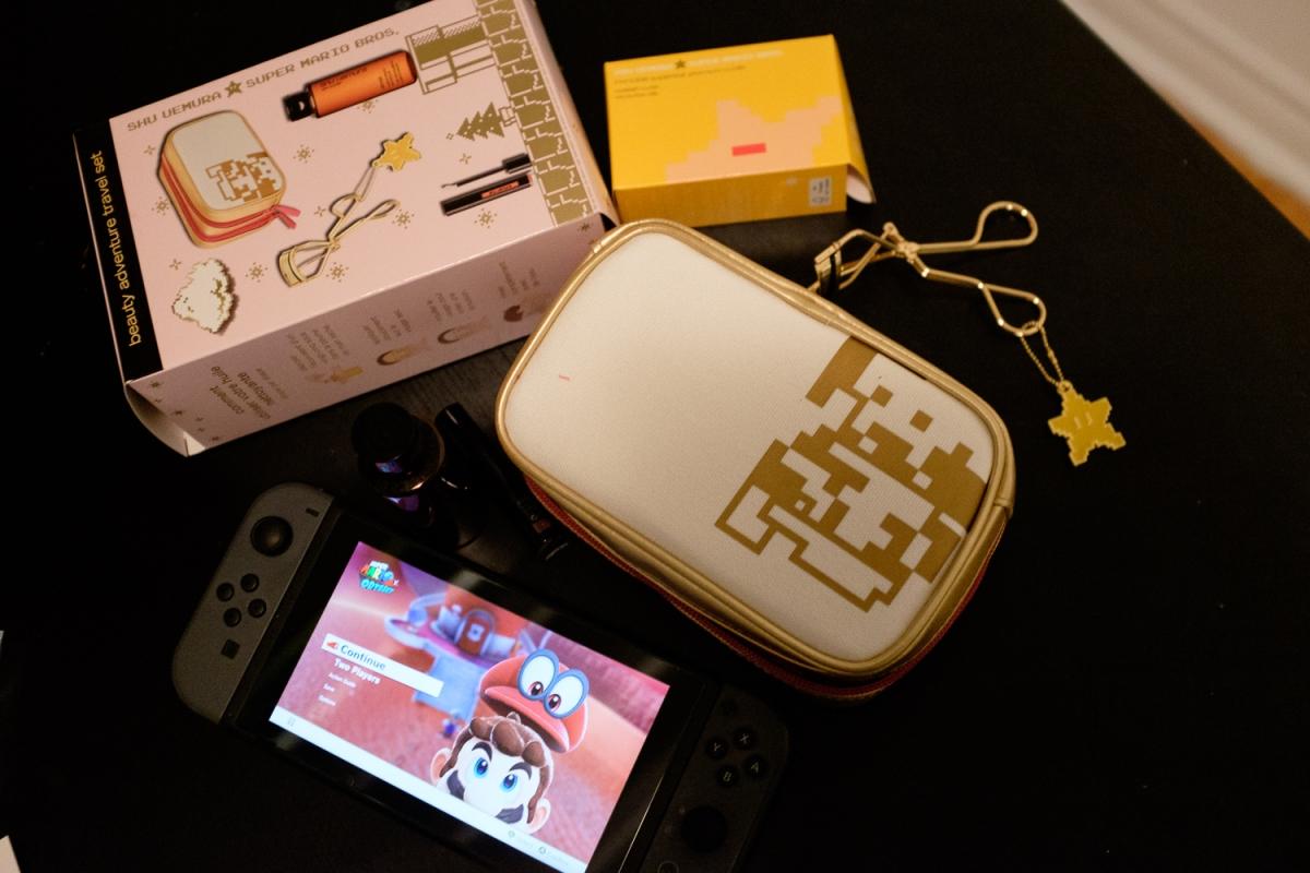 Shu Uemura x Mario Travel Set